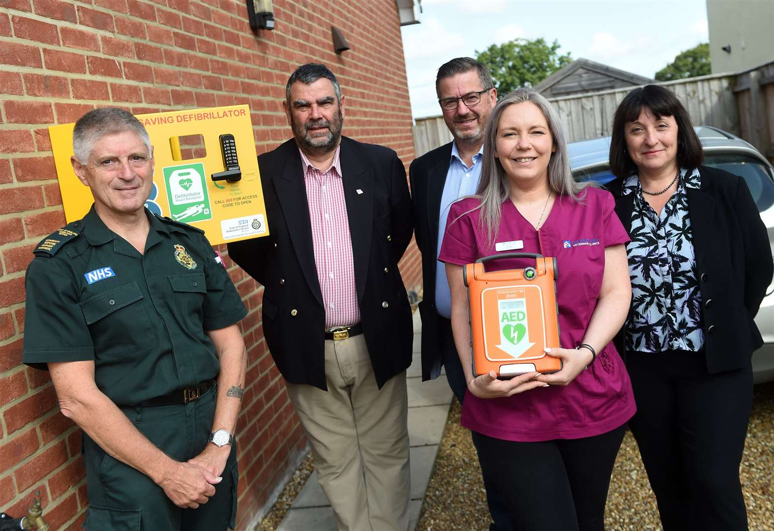 New defibrillator installed in Stanton village