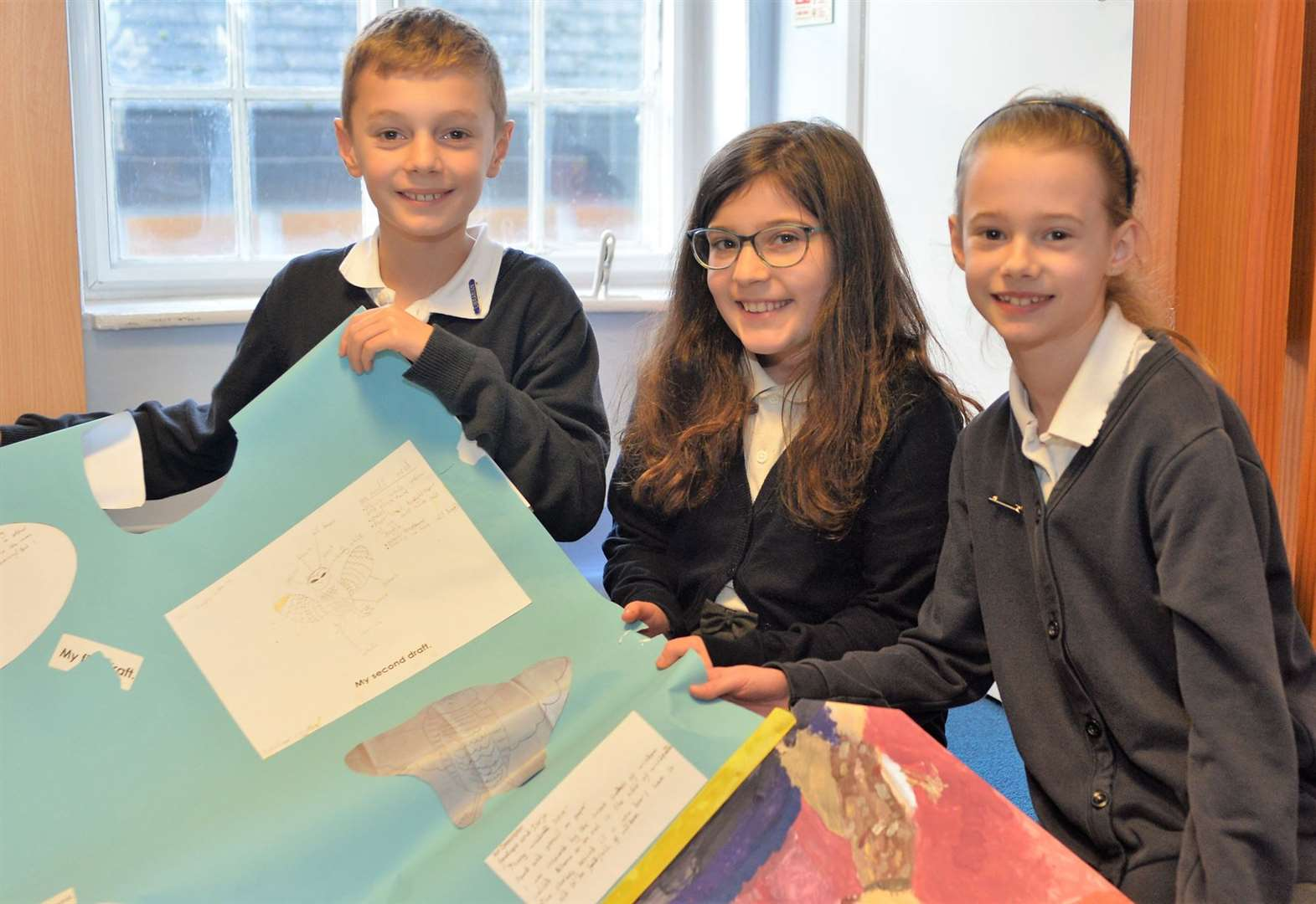 Young artists inspired by masterpiece
