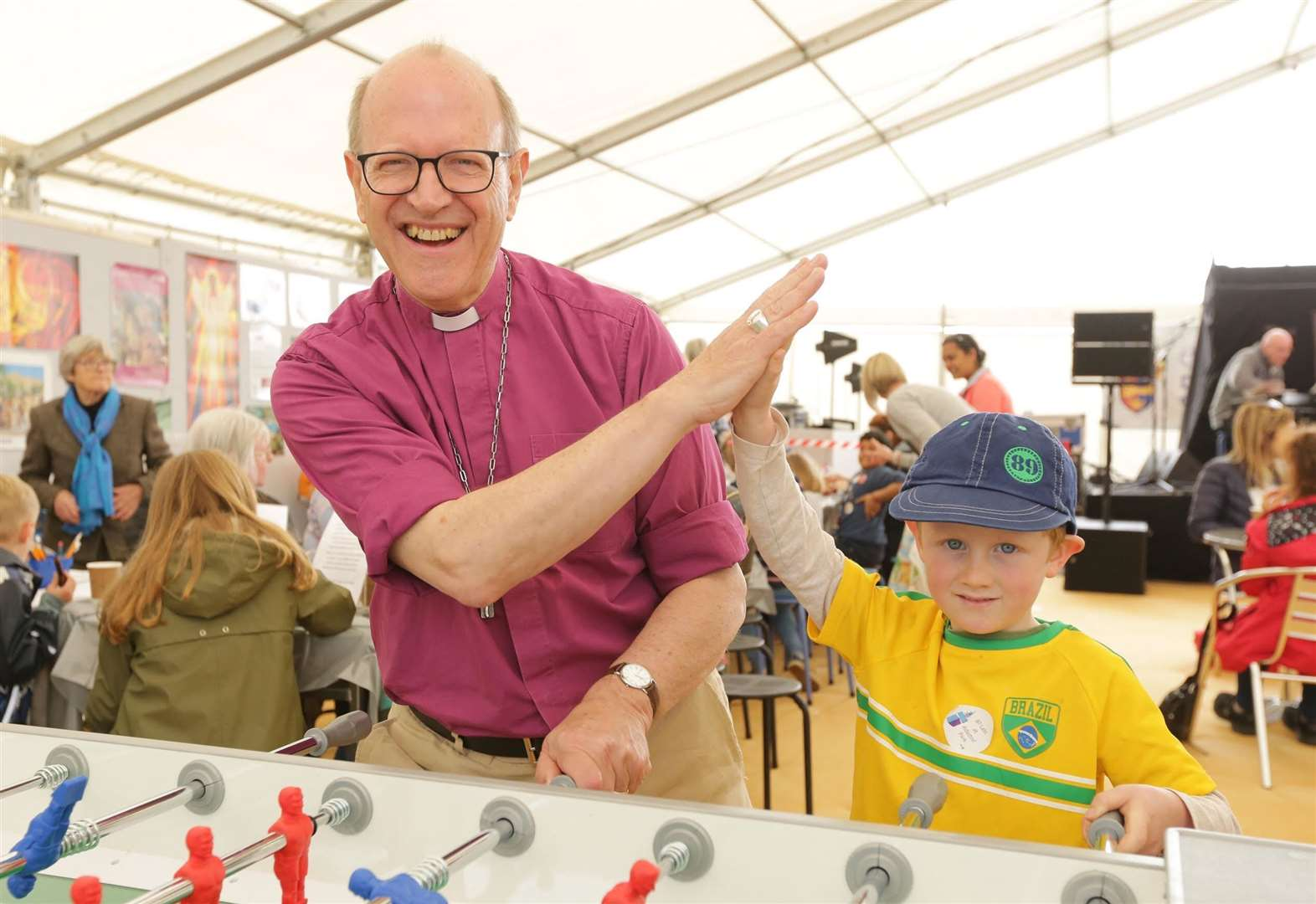 Bishop joins in the fun of the Suffolk Show