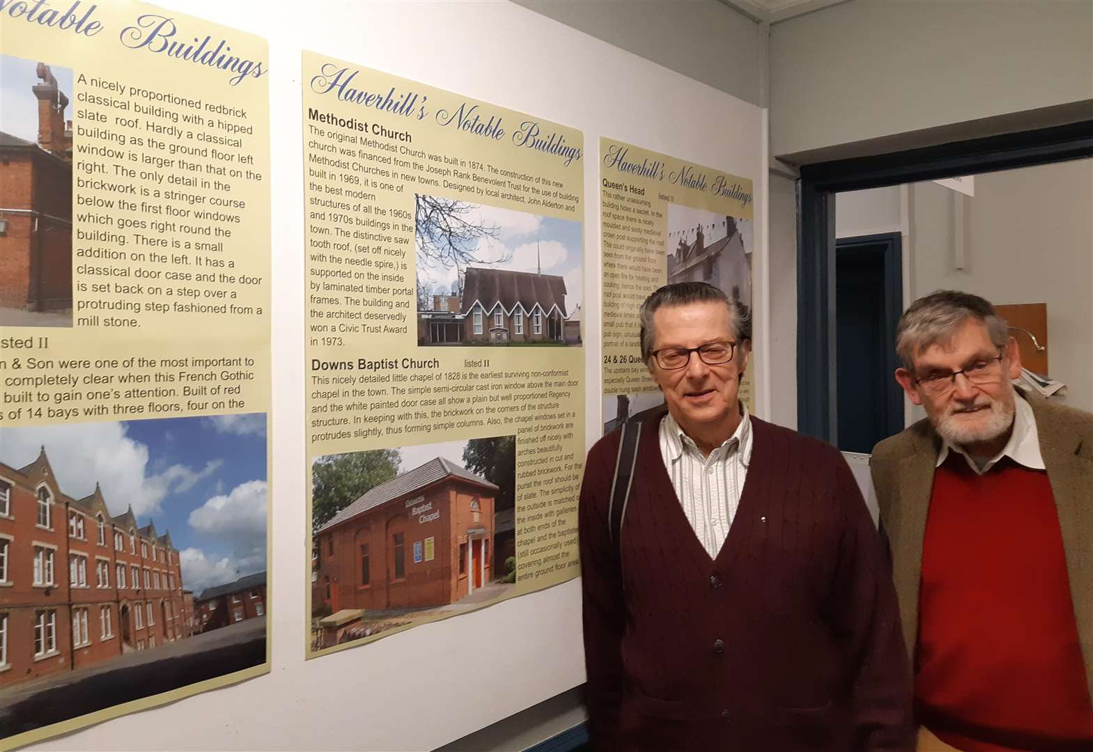 An exhibition showing many of Haverhill's buildings of interest is up and running