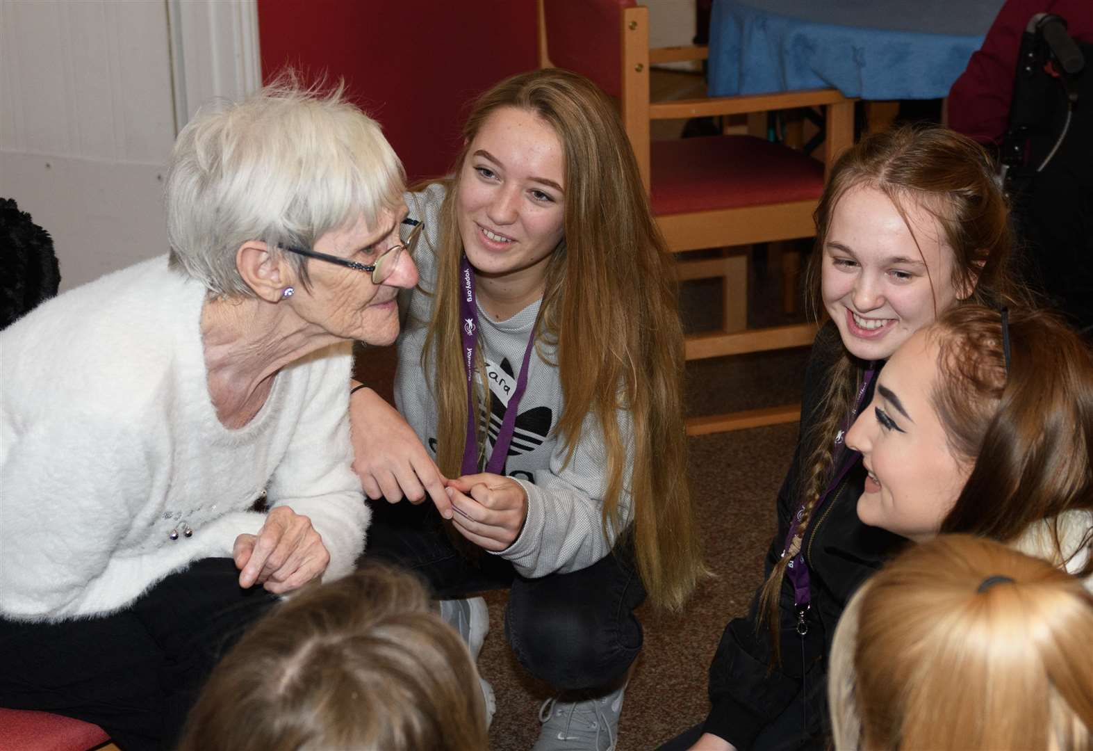 Students at Mildenhall College Academy offer friendship to care home residents