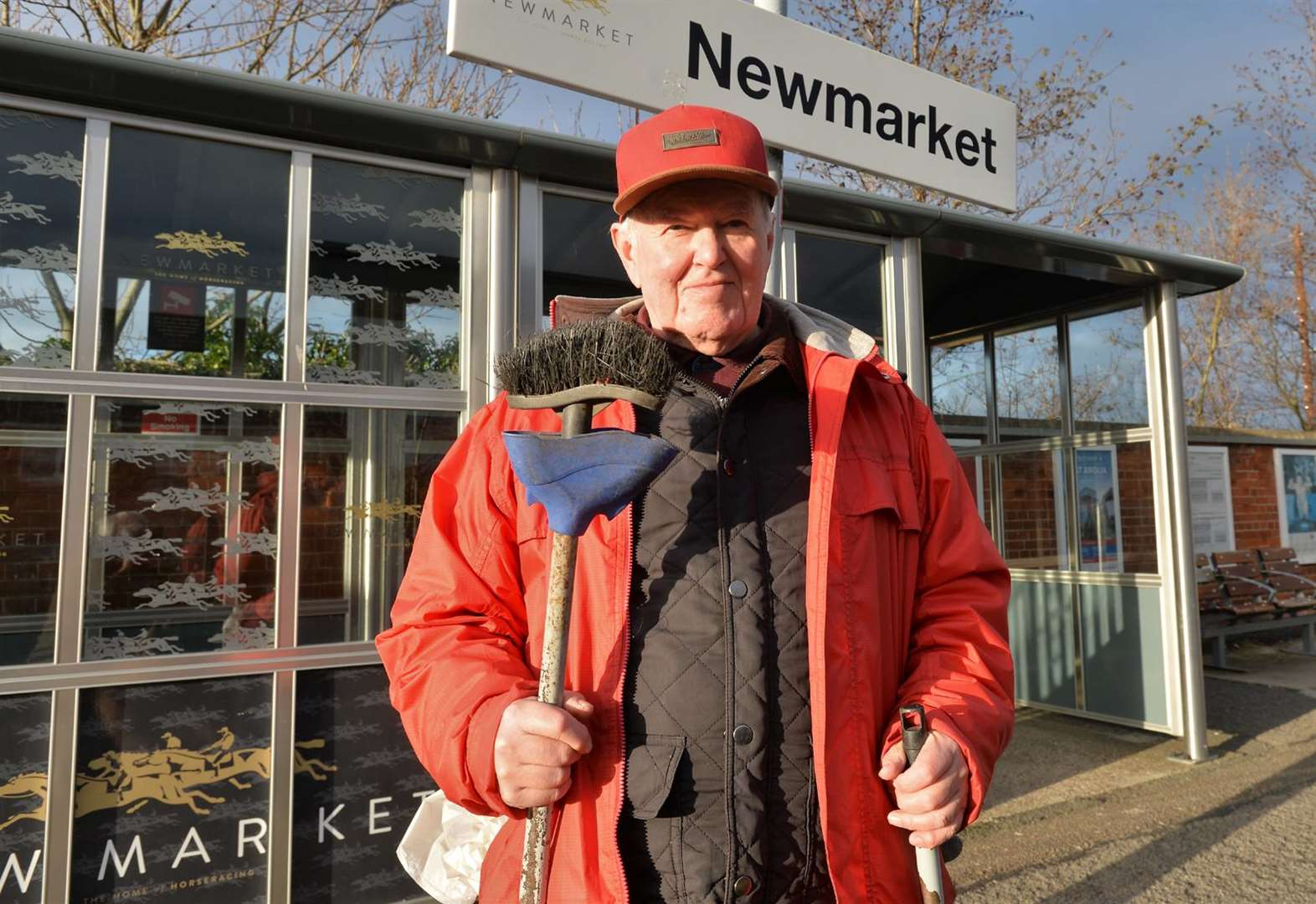 Retired Michael tidies up Newmarket's station