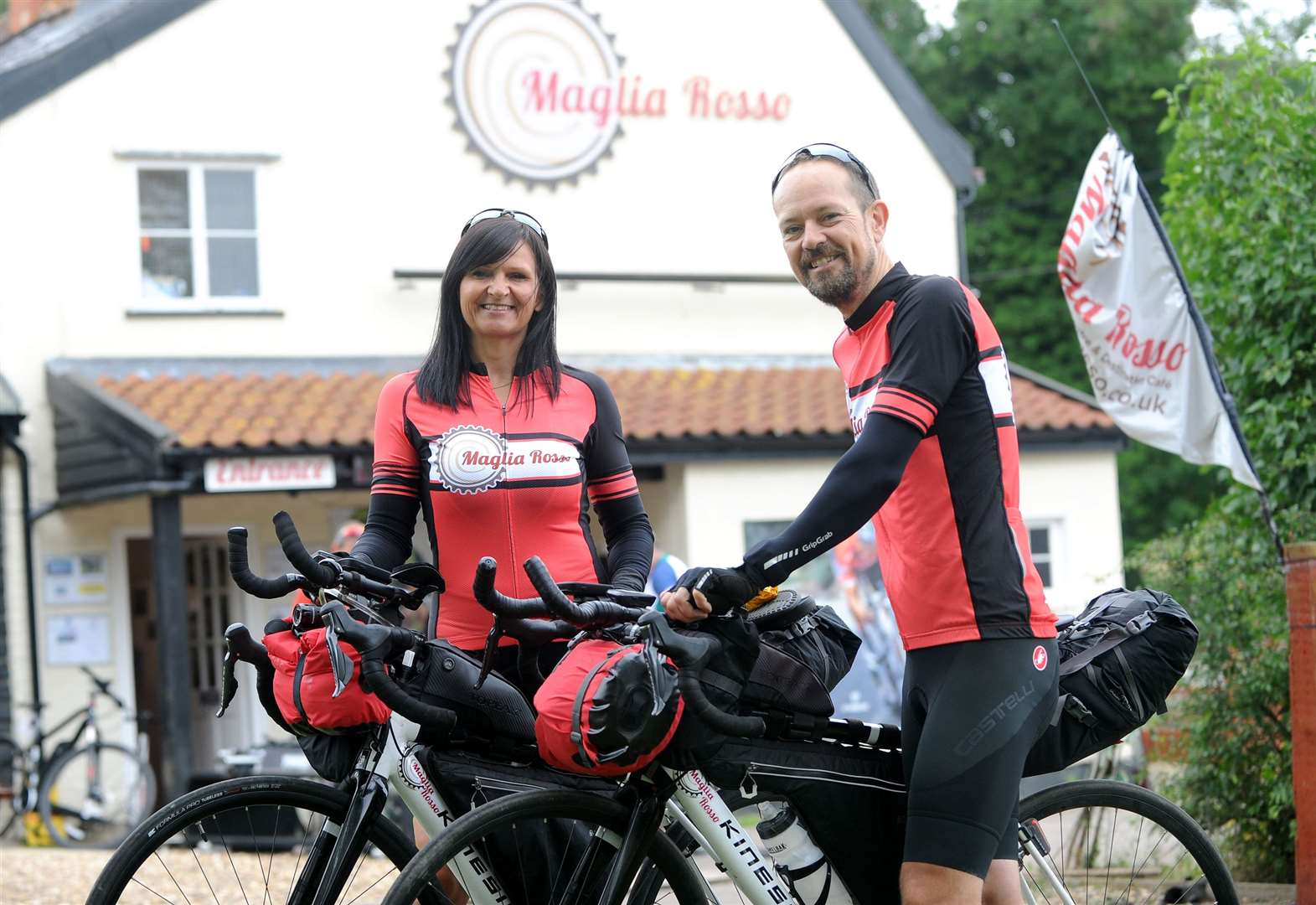 This Fornham All Saints couple are preparing to cycle 2,500 miles across Europe