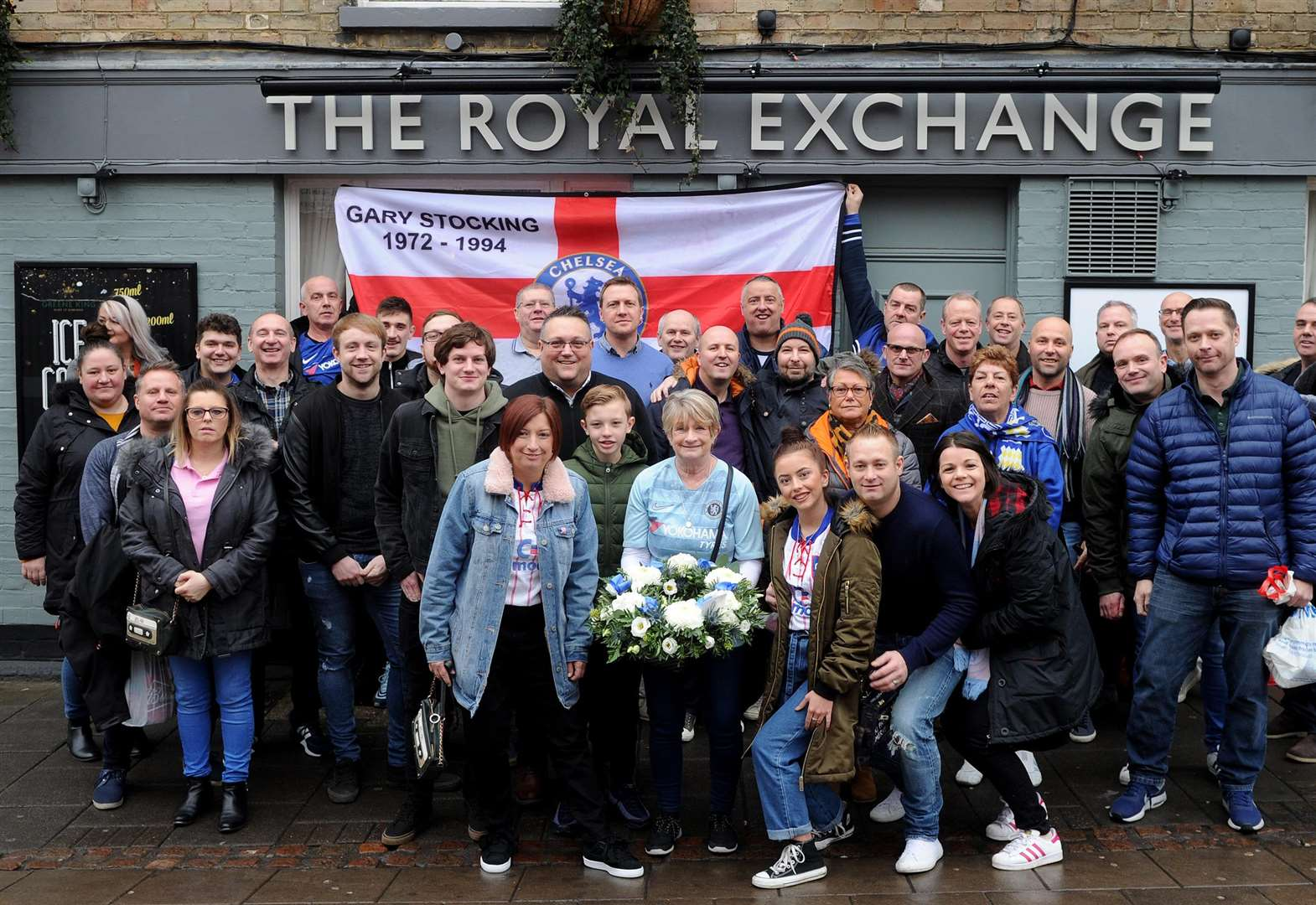 Flowers laid at Chelsea's ground to mark the 25th anniversary of Haverhill man's death