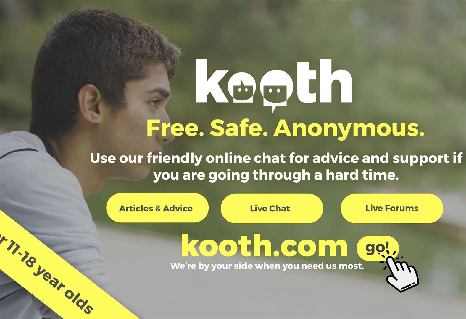 Free online counselling for ages 11-18
