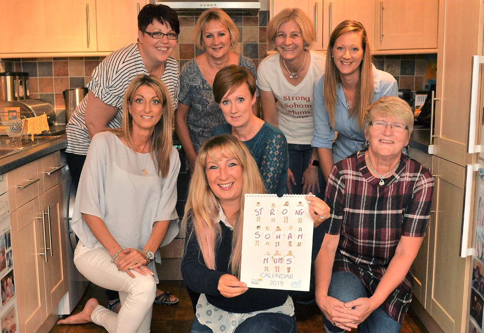 Strong Soham Mums make a date for fund-raising in charity calendar