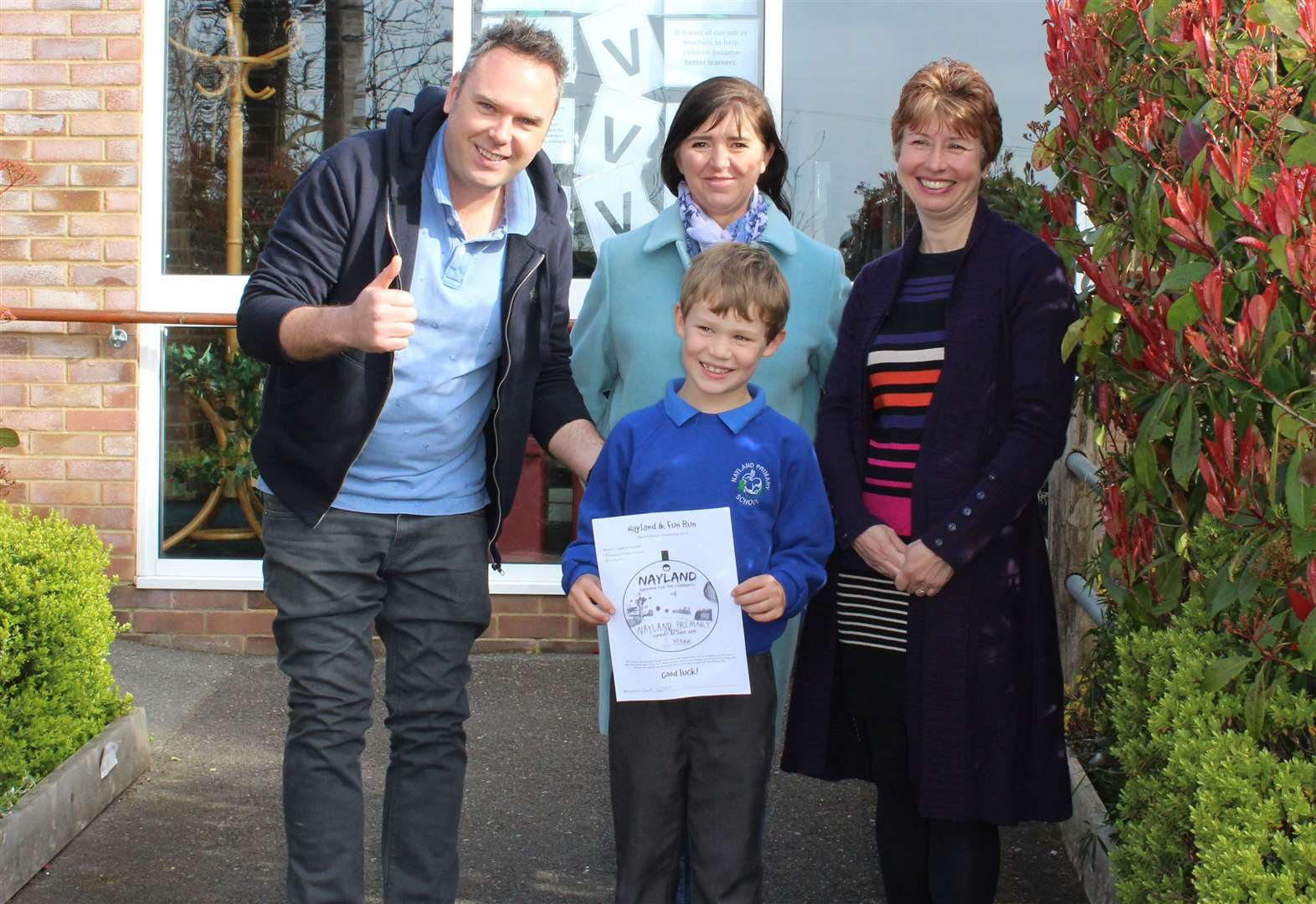 Nayland school pupil wins medal design competition for charity Fun Run