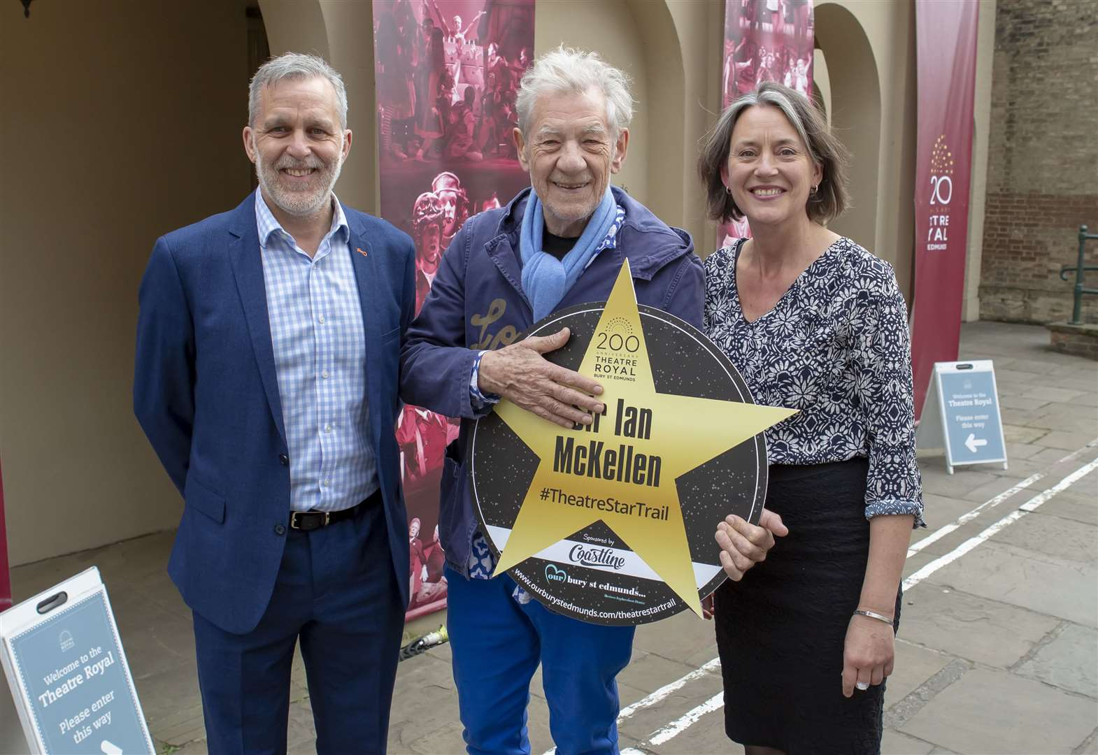 Thieves steal Bury St Edmunds theatre trail stars including Sir Ian McKellen's