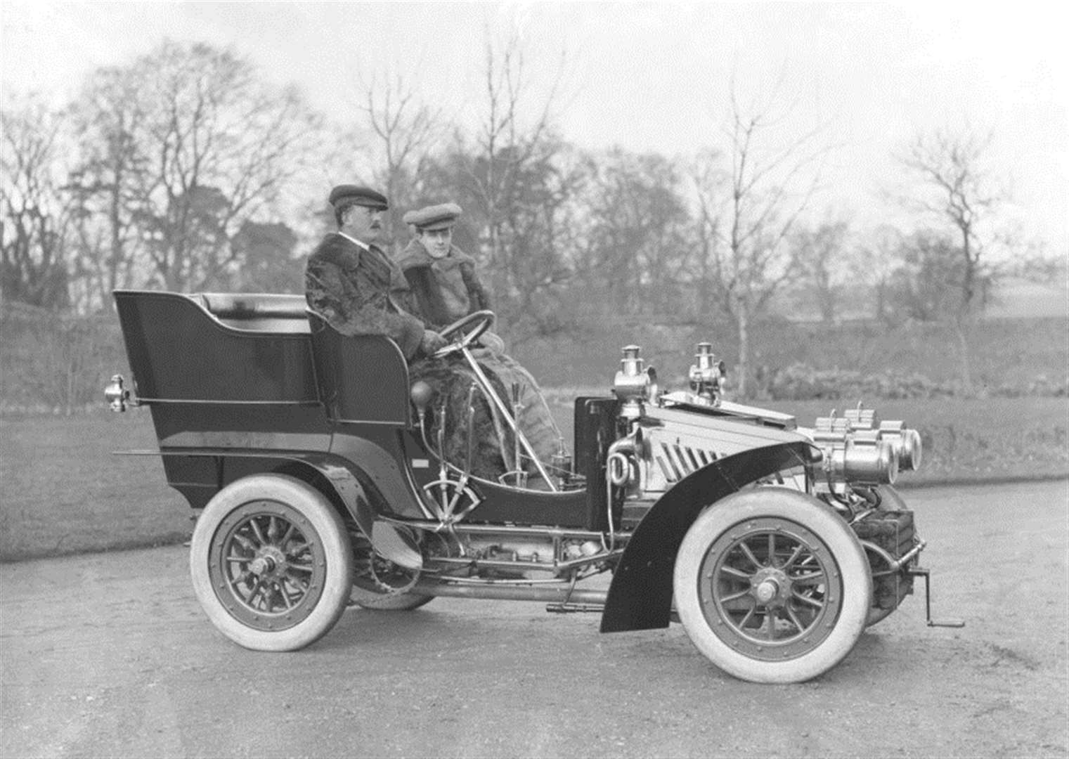 NOSTALGIA: Mr & Mrs Charters and their motor car – from the Spanton Jarman collection