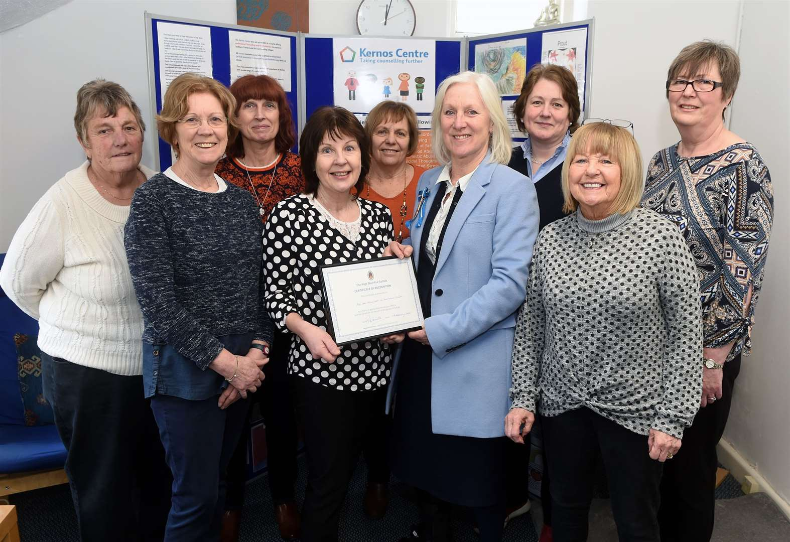High Sheriff of Suffolk honours Kernos Centre in Sudbury with certificate of recognition