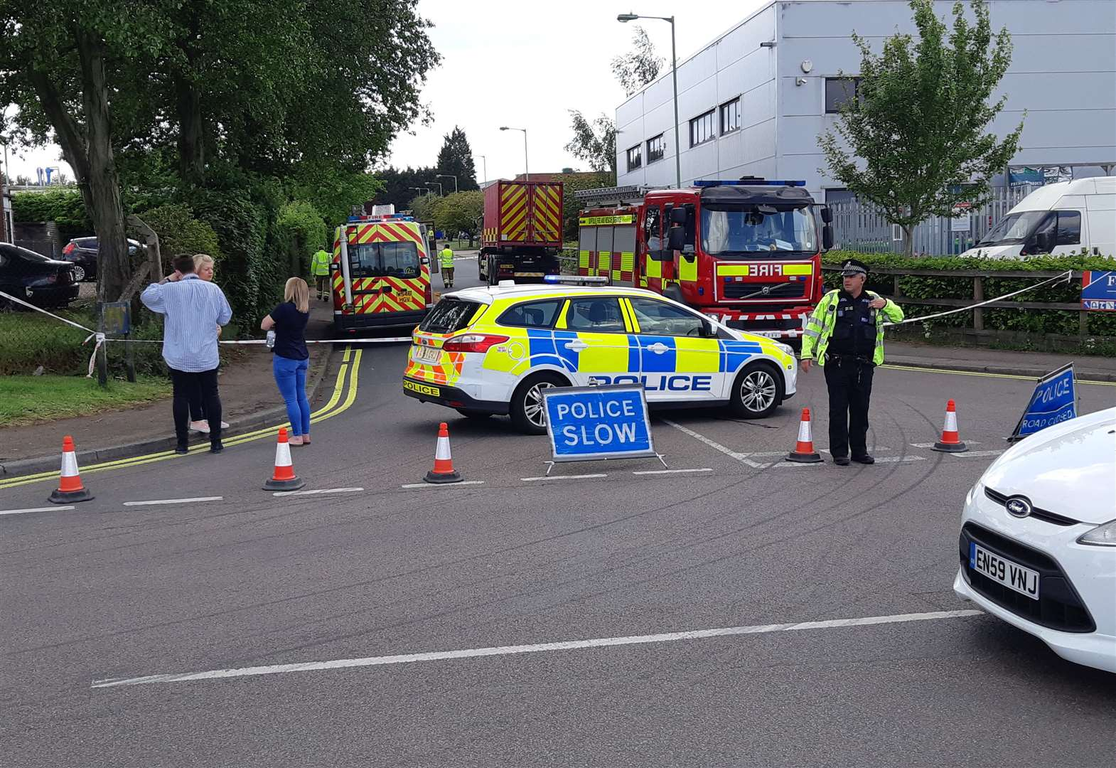 Chemical spillage on Haverhill industrial estate closes road and leads to evacuation of manufacturing facility