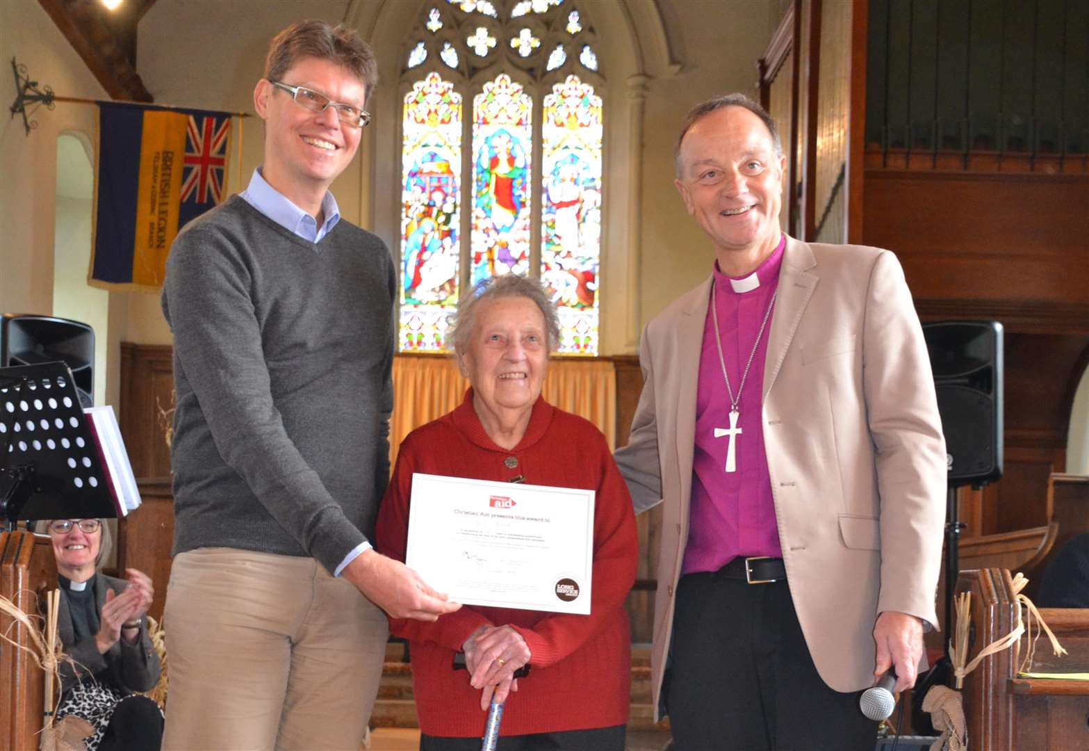 Beryl, 92, from Felsham has been helping Christian Aid for 60 years