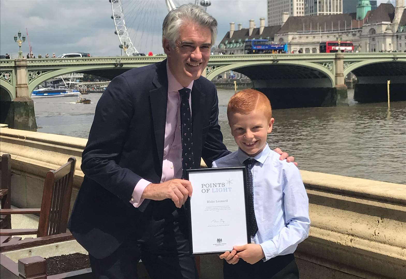 Long Melford boy recognised by Number 10 for sharing experience helping mother with MS