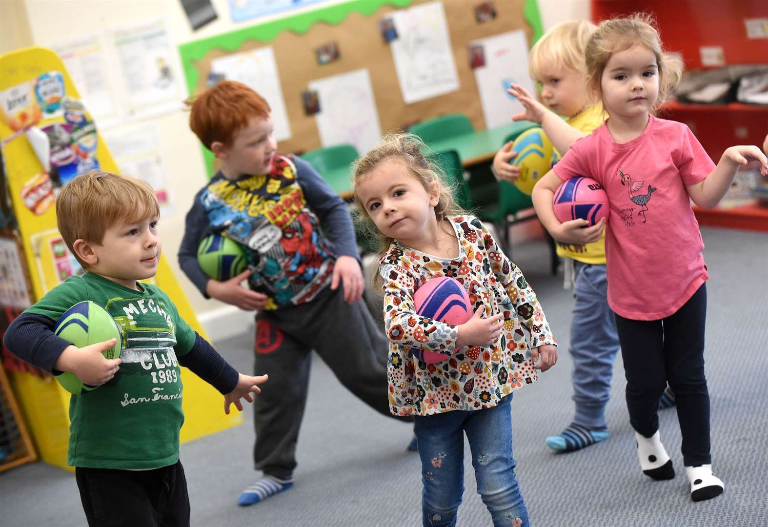 PICTURES: Nursery children in Sudbury put through their paces in sports sessions