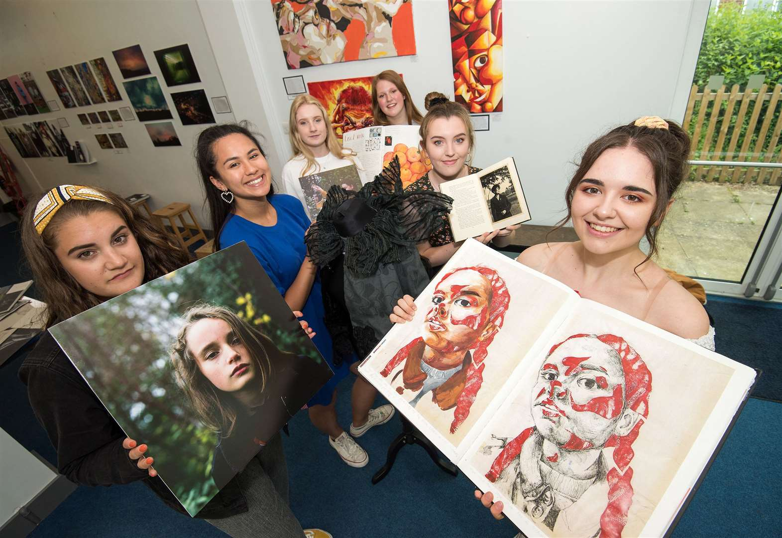 Students from Thurston Community College showcase artwork