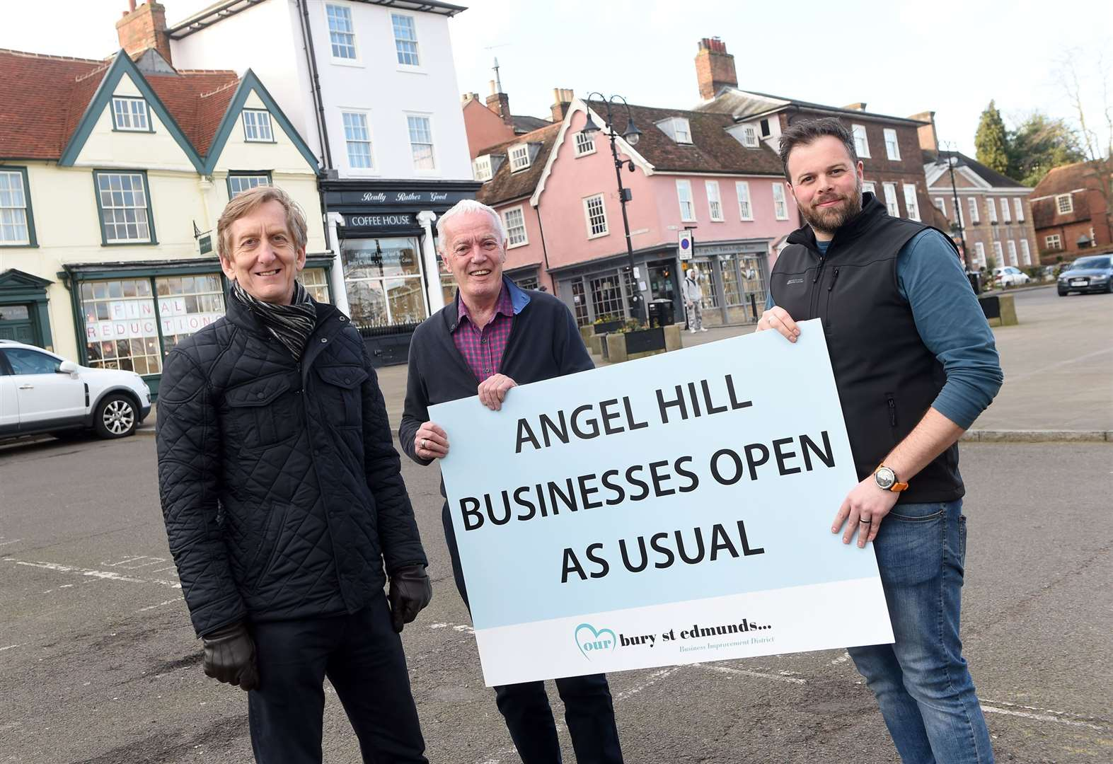 Business as usual during £150,000 Angel Hill works