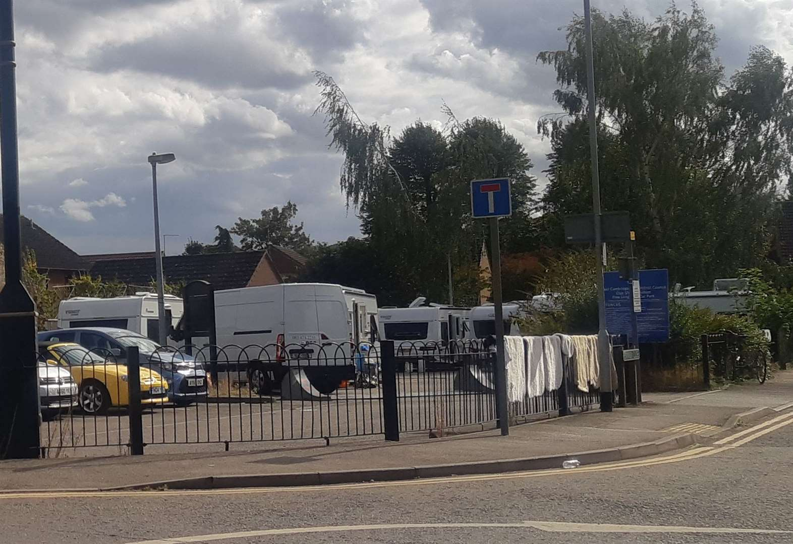 Travellers set up camp in Soham town centre