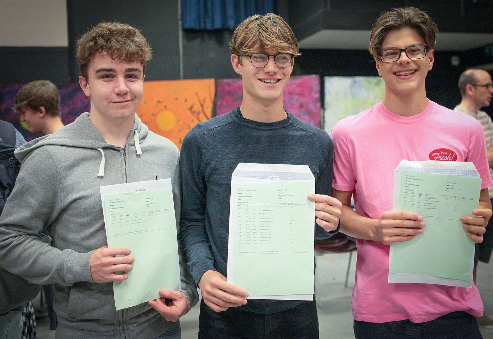 Samuel Ward Academy students celebrate some impressive A-level results