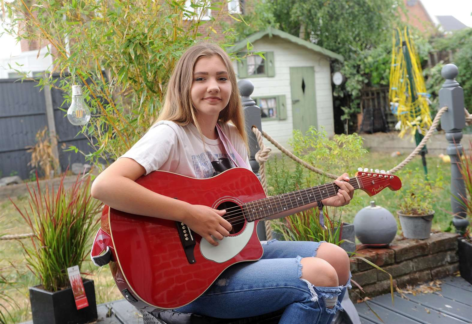 Glemsford teenager gains taste of stardom after performing at Latitude Festival