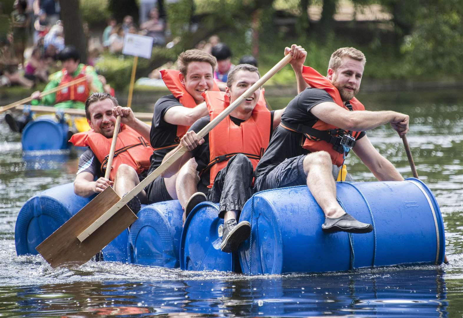Tide of red, white and blue at fun-filled 'very British raft race'