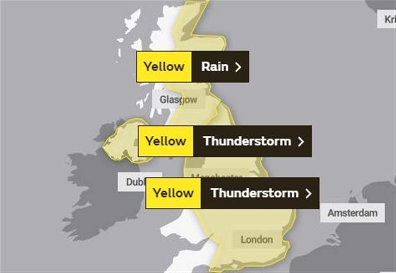 Another yellow weather warning in place for West Suffolk