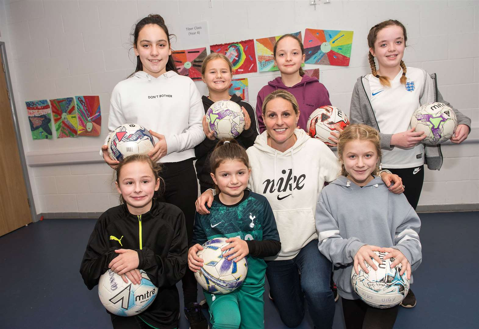 Football legend puts school children through their paces