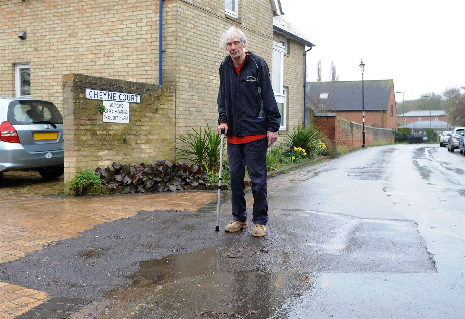 Sudbury resident criticises condition of road after works to repair leak