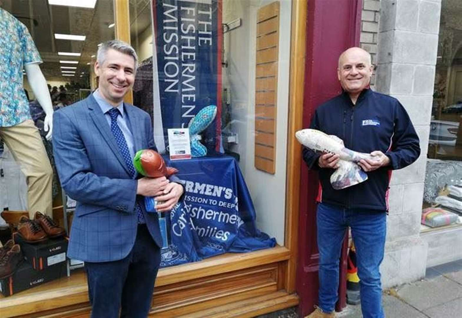 Sudbury shop's fish art display supports charity auction