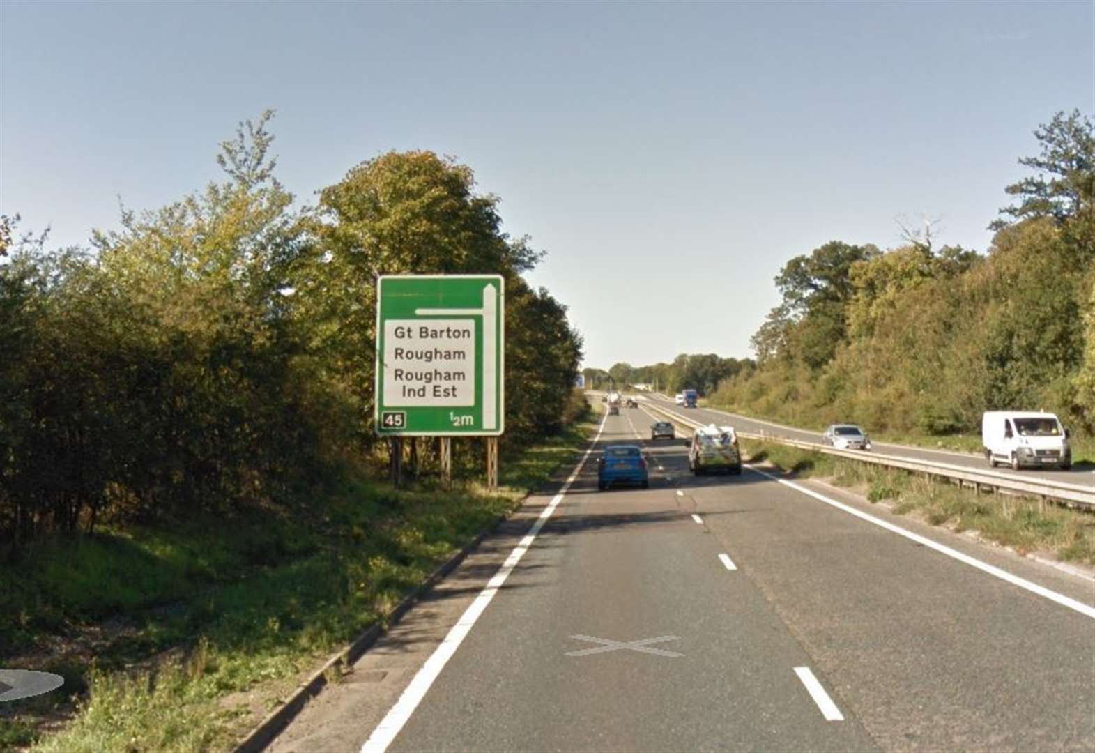 Six cars involved in Rougham A14 collision