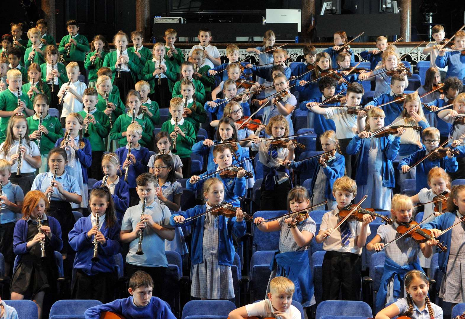 Haverhill primary schools give shared concert as part of a county music festival