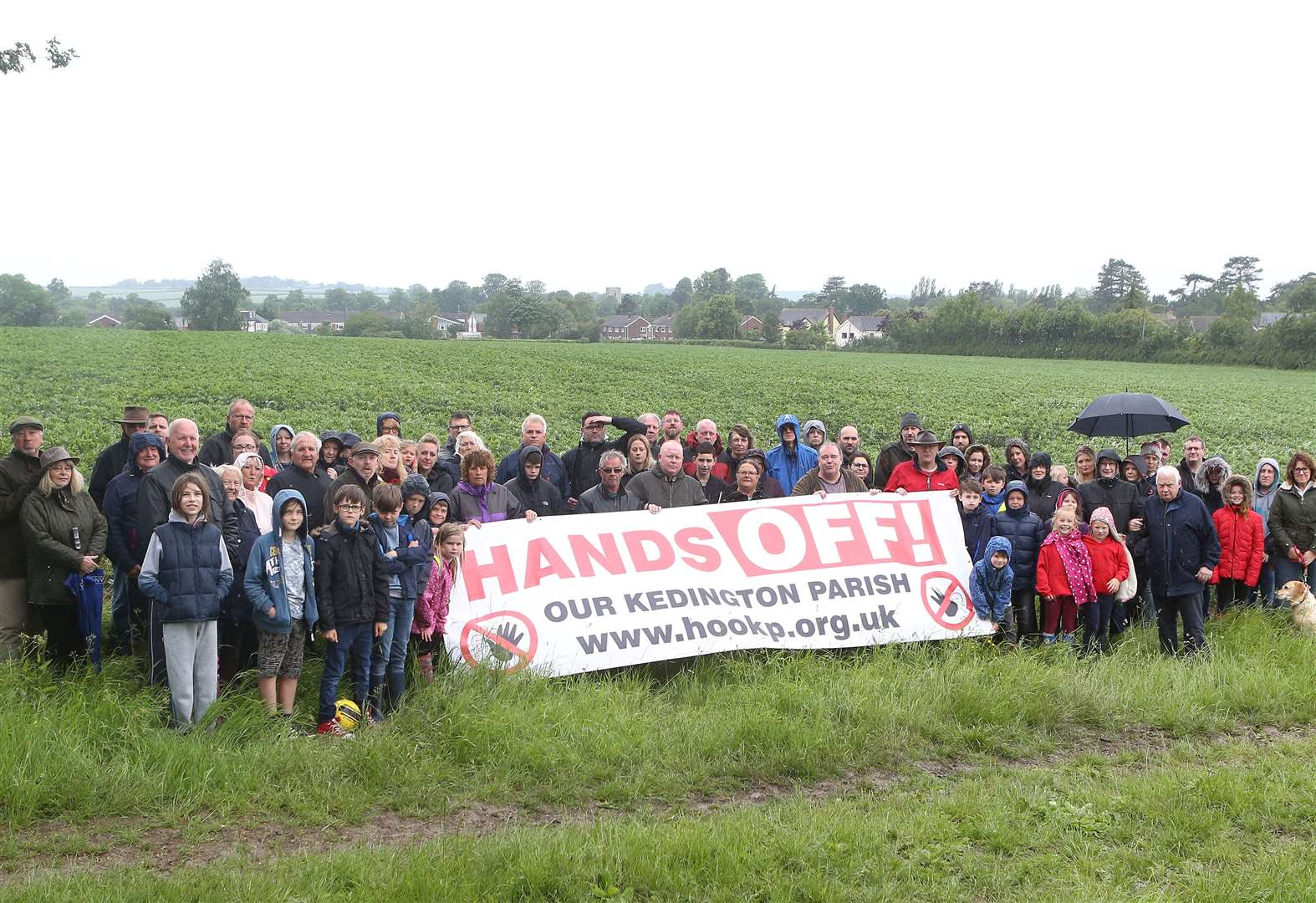 Villagers unite to campaign against proposed housing