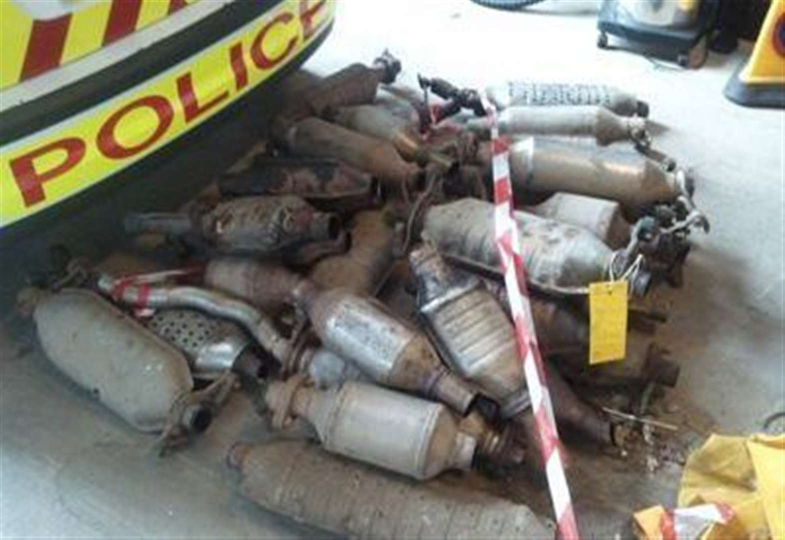 Police urge vigilance after catalytic converter thefts