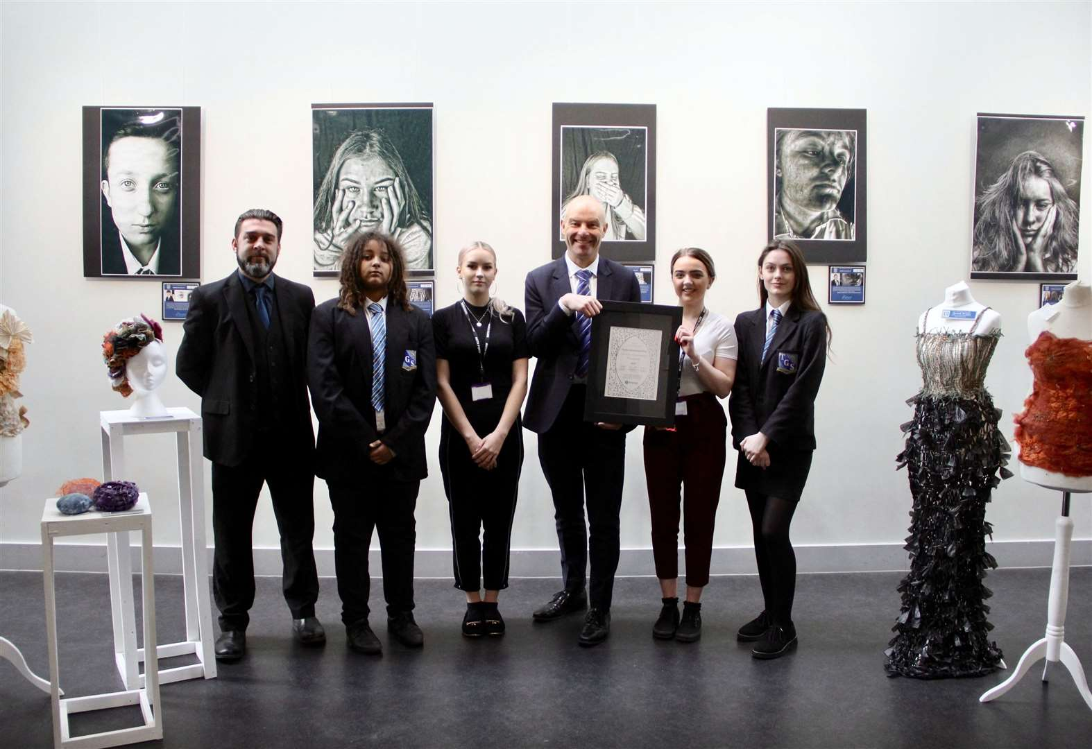 Thomas Gainsborough School in Great Cornard receives platinum Artsmark award