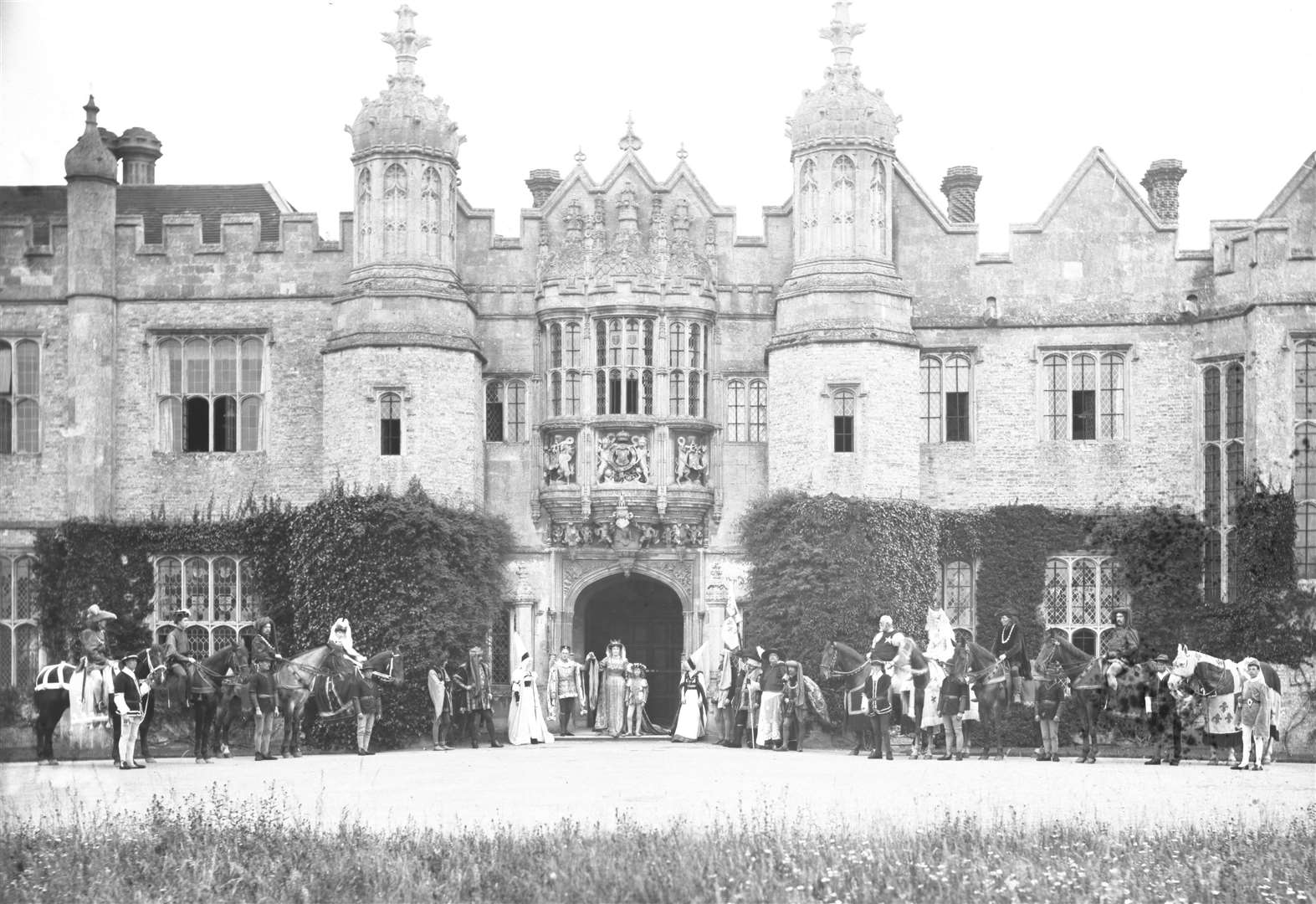 NOSTALGIA: Pageant group at Hengrave Hall, 1907