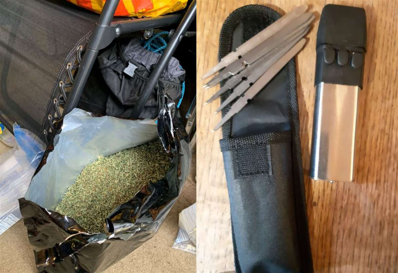 Police seize drugs and dart gun from a Burwell house