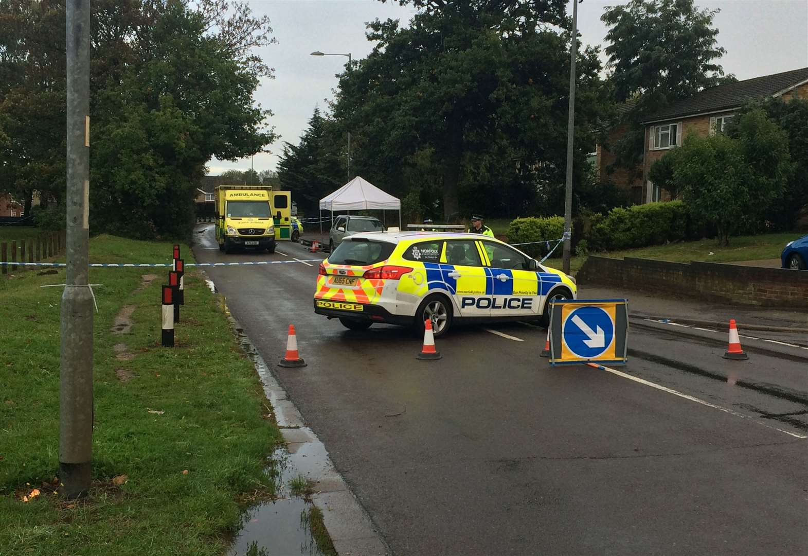 A man has been arrested in Haverhill on suspicion of committing a murder in Thetford