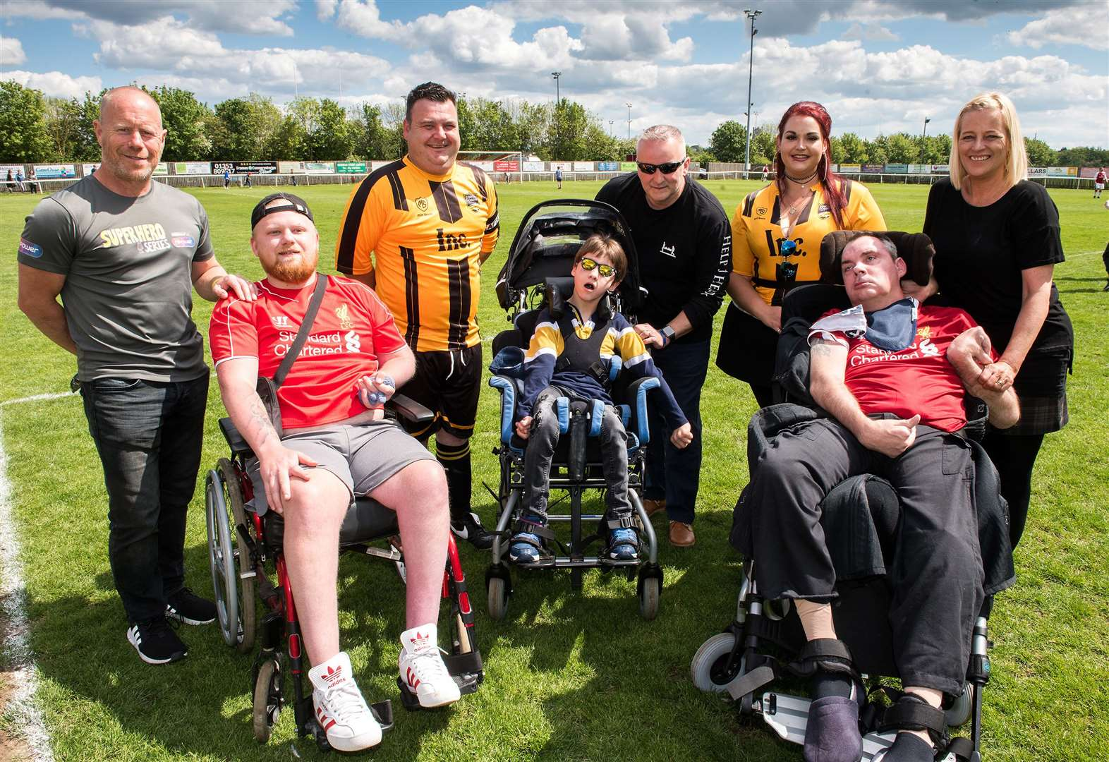 Charity match raises £2,000 for Simon Dobbin and his supporters