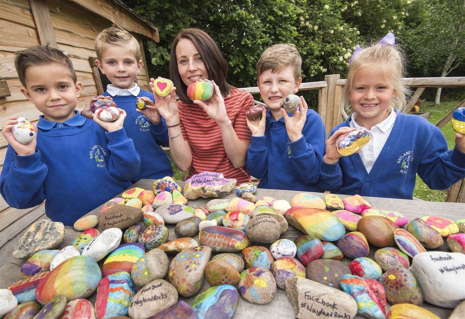 Nayland Primary School hopes to send painted rocks around the world