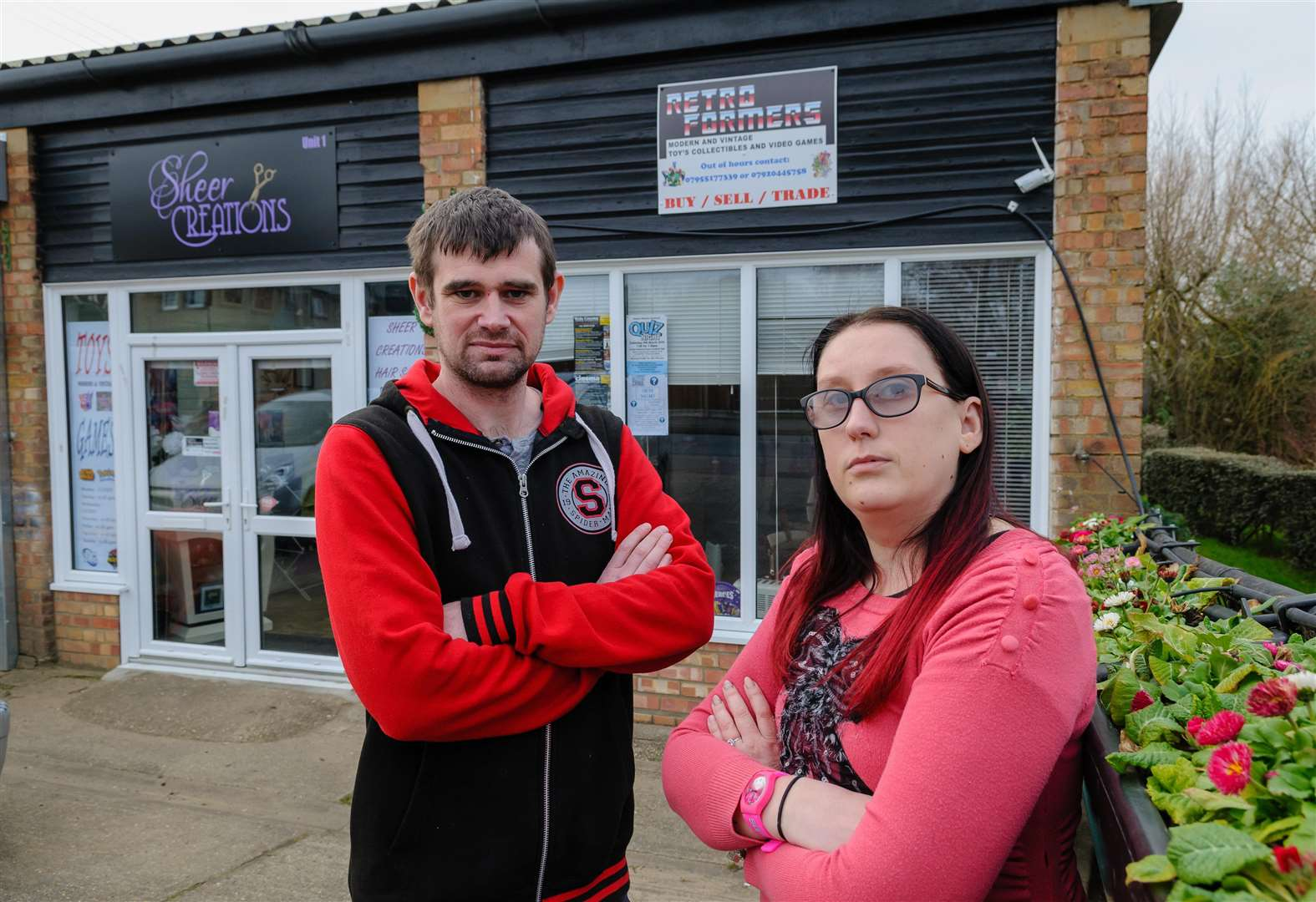 Halstead pair relieved at lucky escape after car collides with hair salon