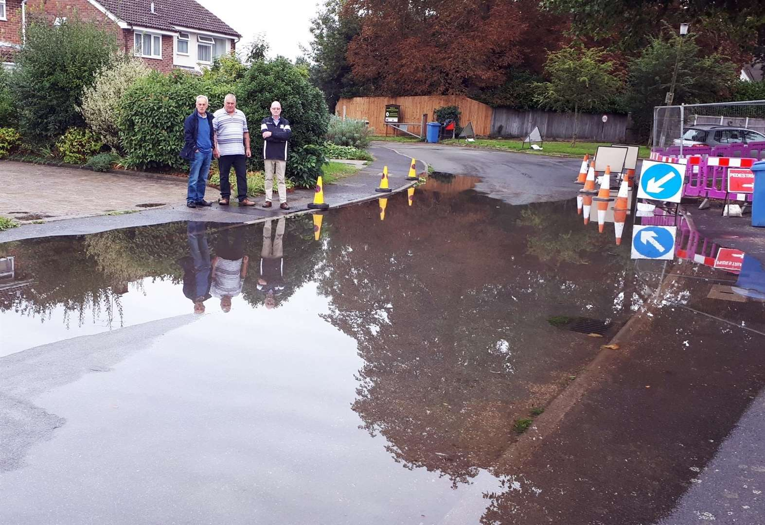 Long Melford councillors frustrated as blocked drain causes road flood