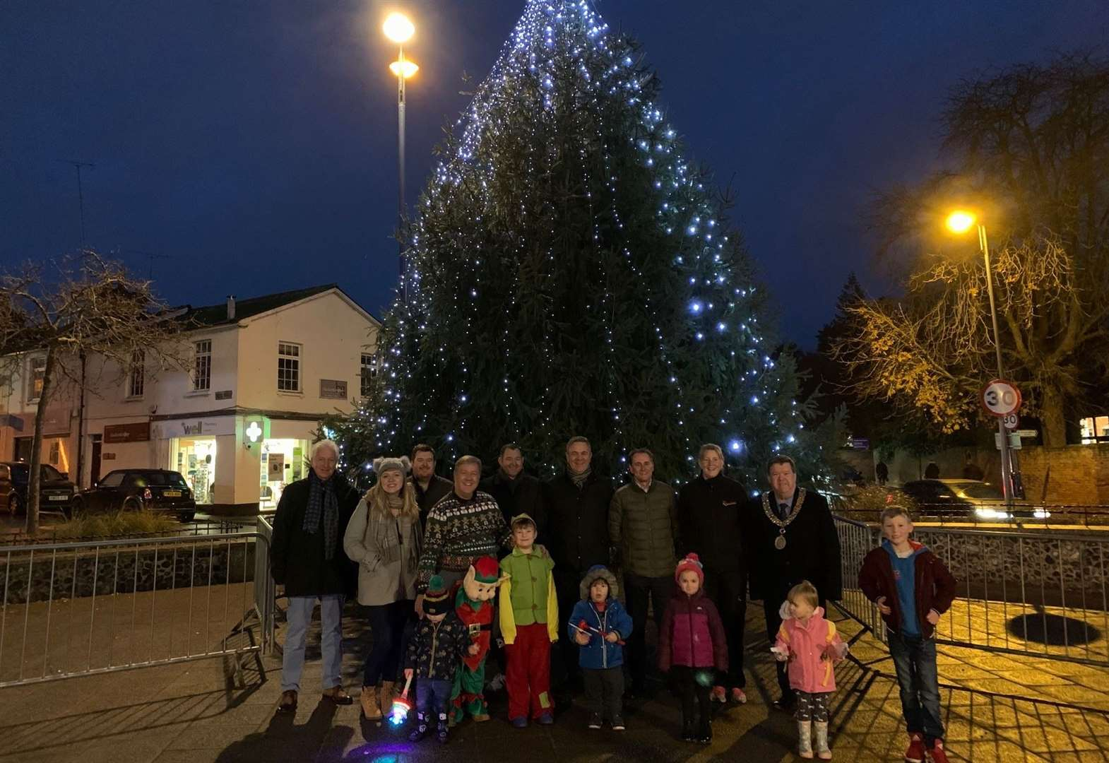 Early lights switch-on gives town centre a festive look