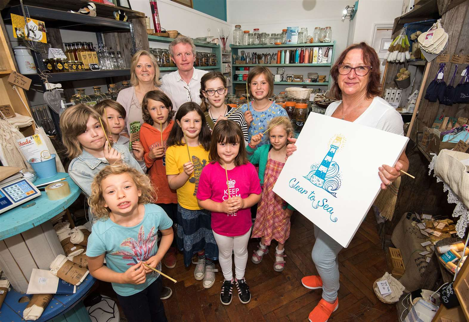 Bury St Edmunds shop Clear to Sea hosts visit from children from the Creative Education Centre in Fornham All Saints