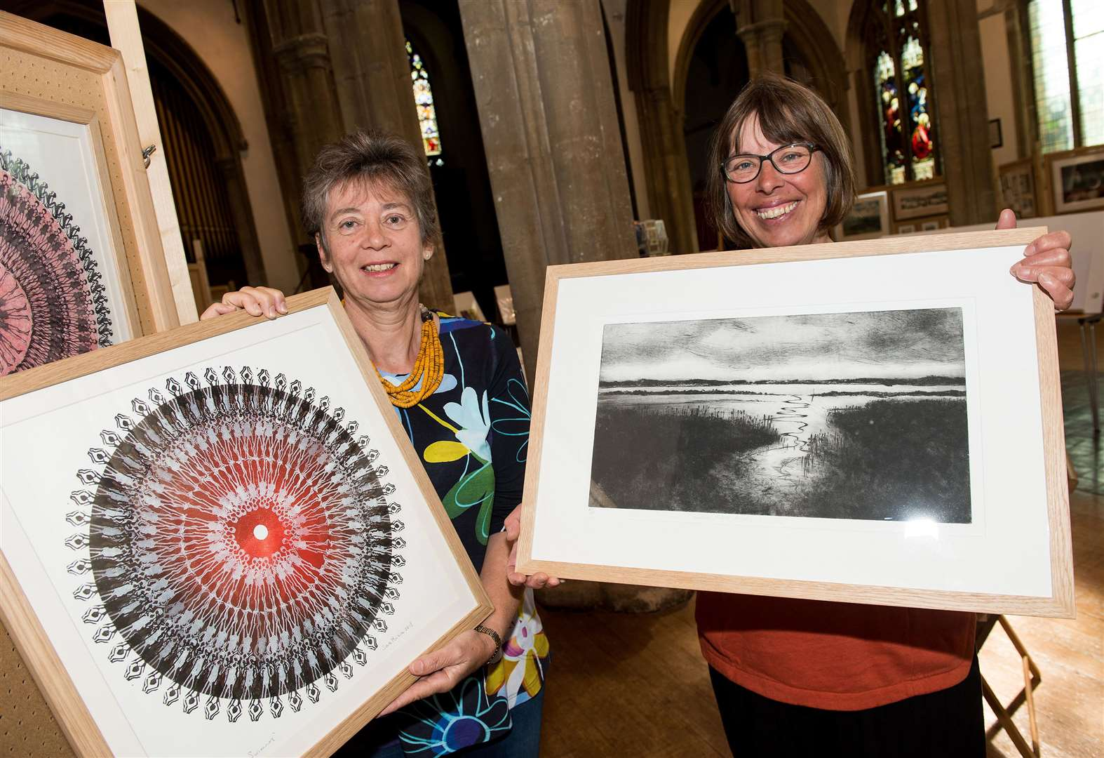 PICTURES: Printmakers' art rubs off on visitors at show in Sudbury