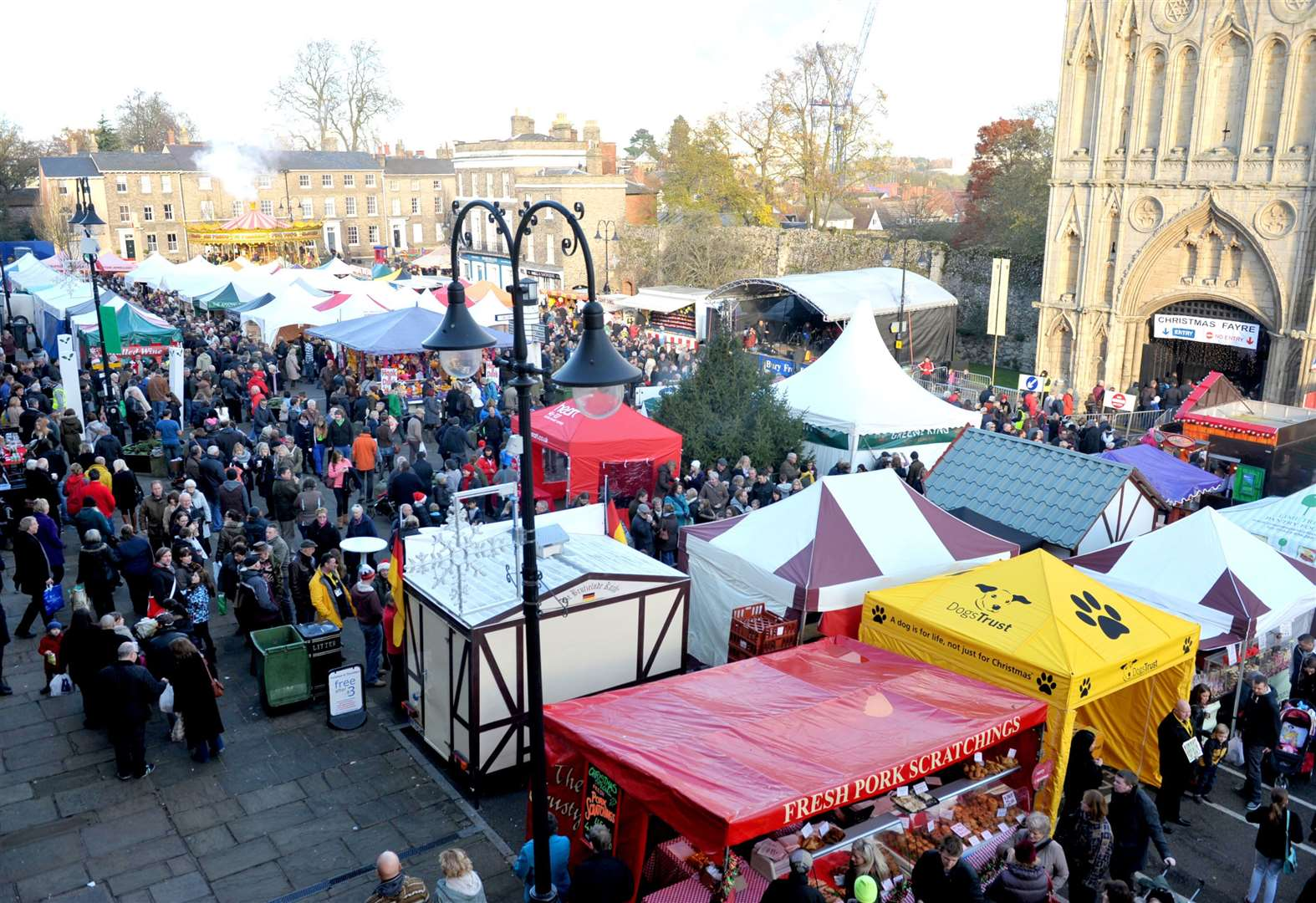 INTERACTIVE MAP: Bury St Edmunds Christmas Fayre is well underway