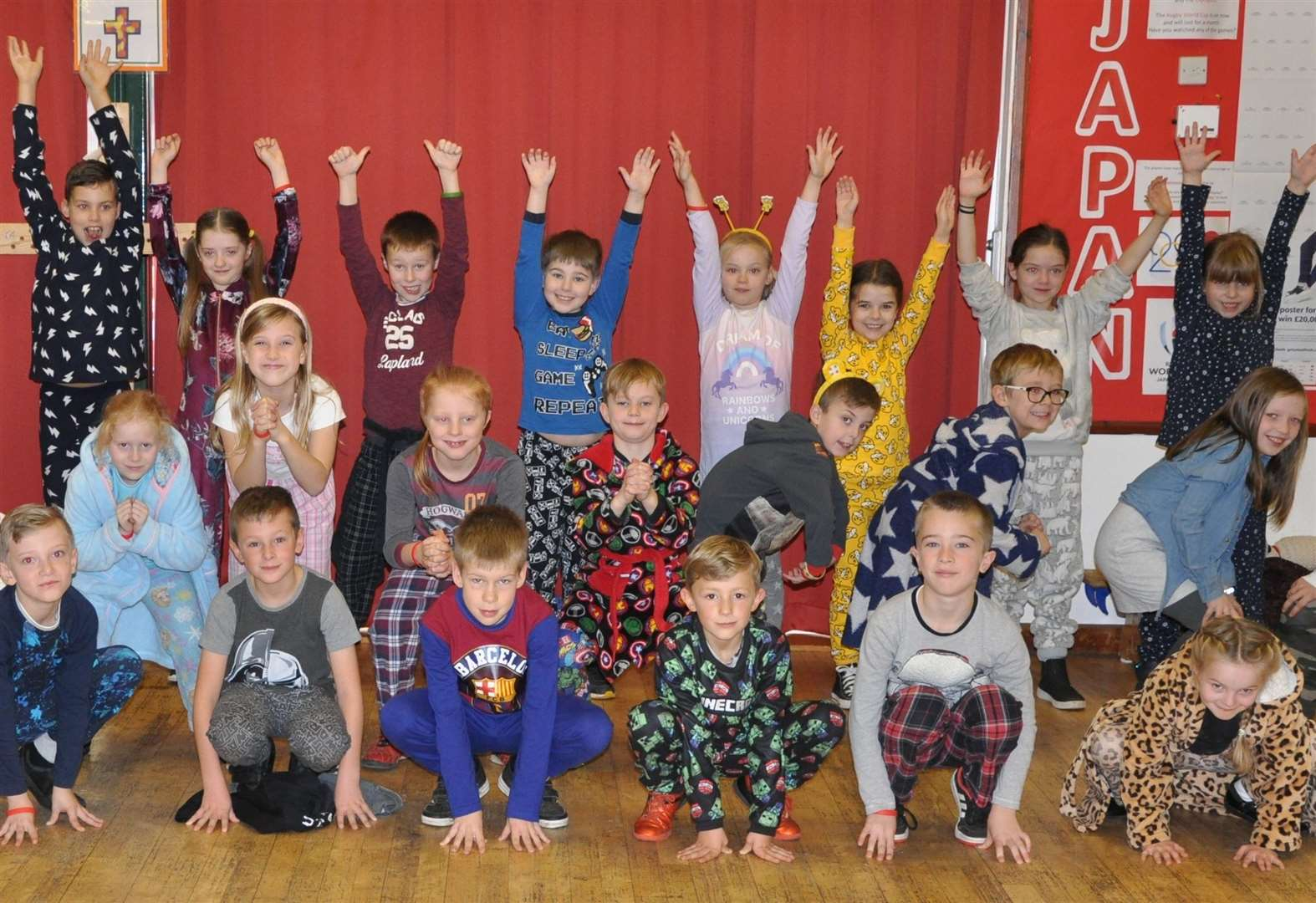 Fitness fundraiser at Long Melford Primary School boosts Children in Need
