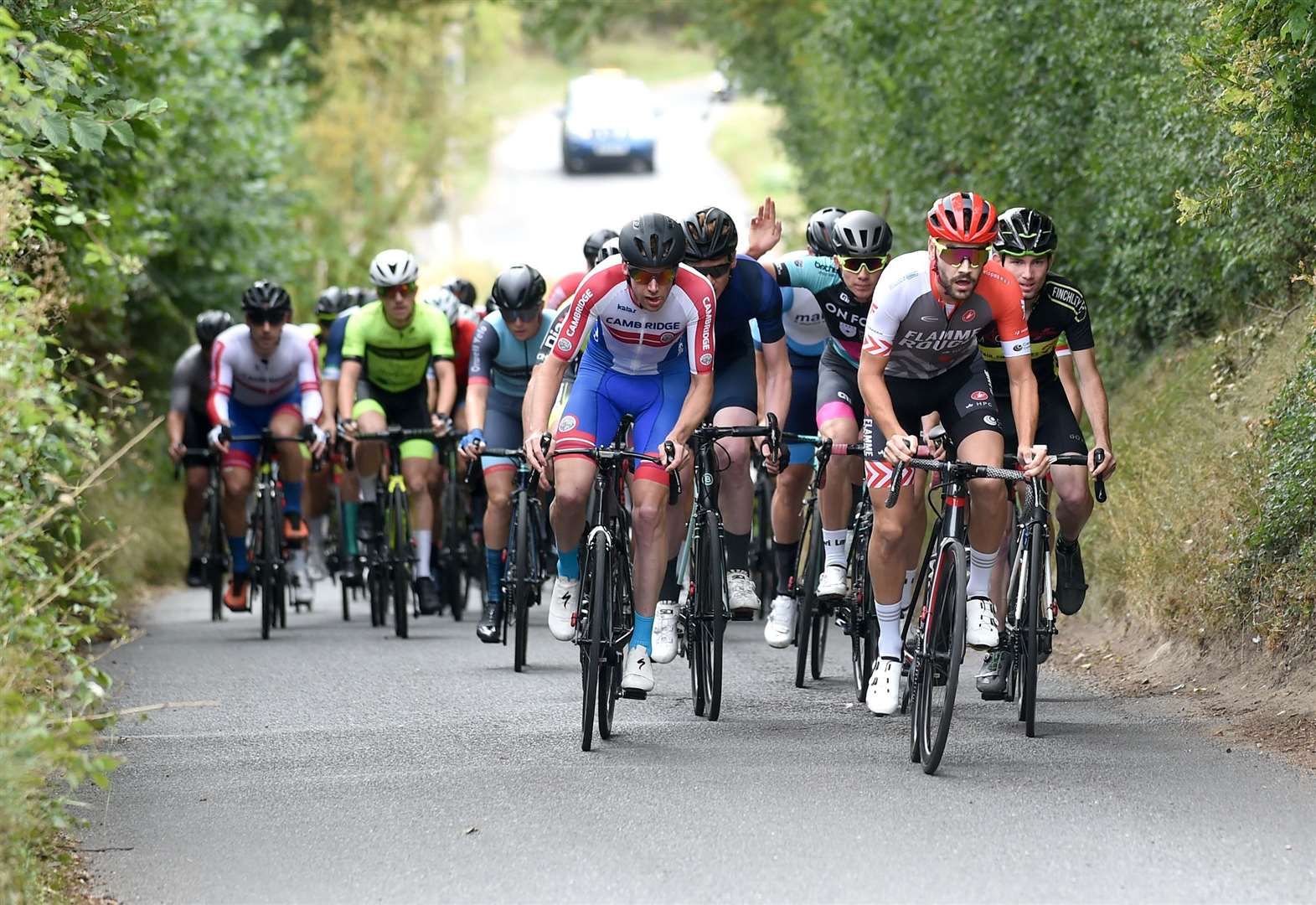 Blackmore survives late crash to win Eastern Road Race event