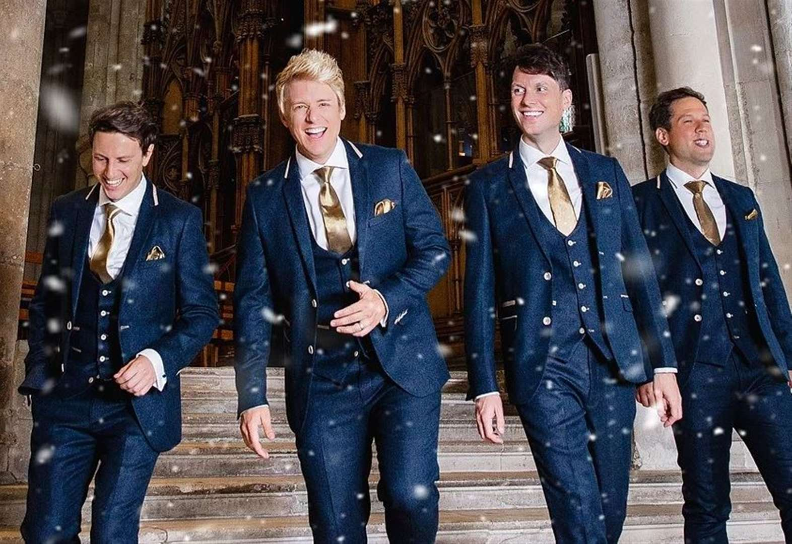 This is when pop opera stars G4 will bring Christmas tour to St Edmundsbury Cathedral