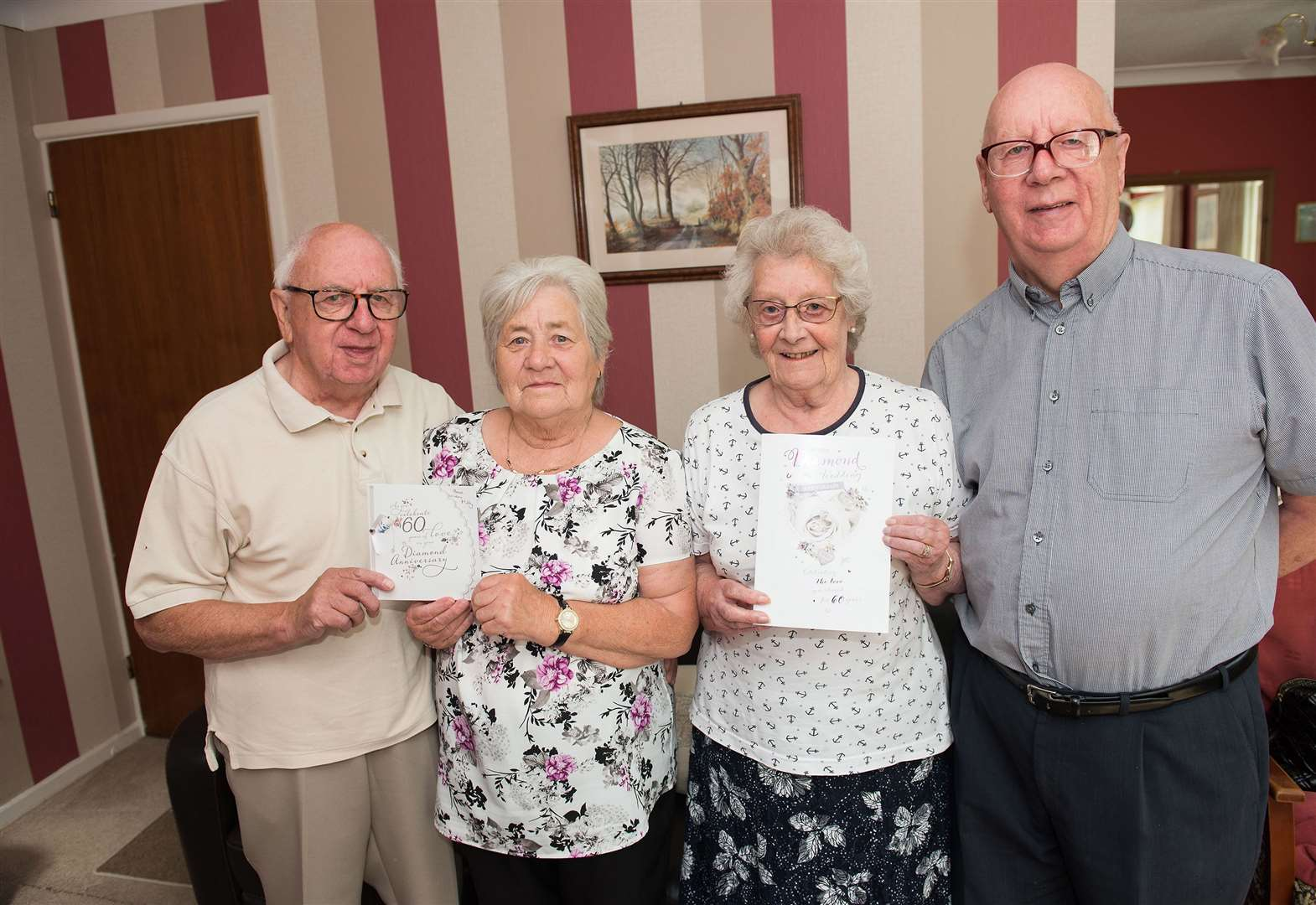 Horringer and Bury St Edmunds twins celebrate 60th anniversaries