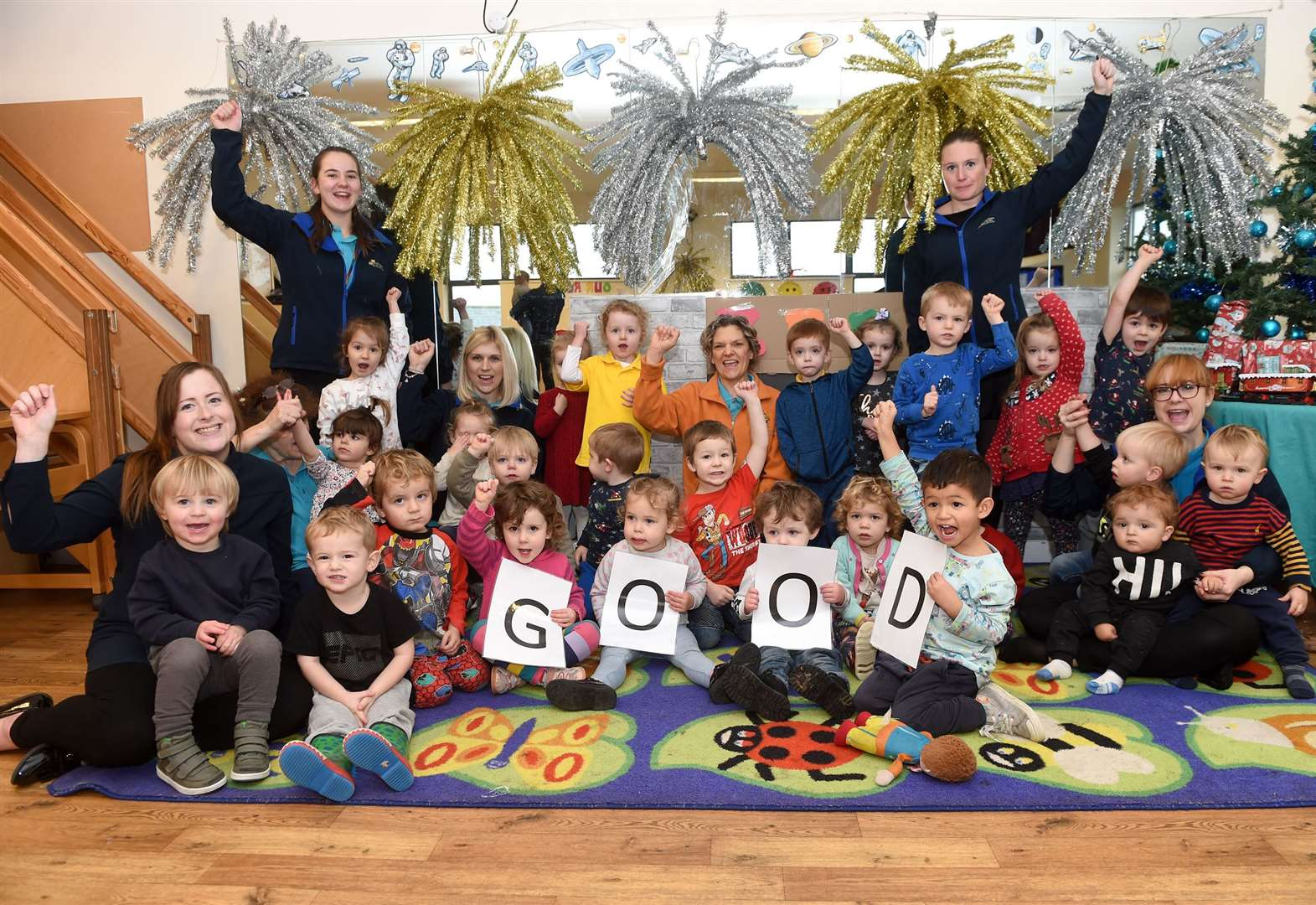 Nursery staff are 'over the moon' after inspection