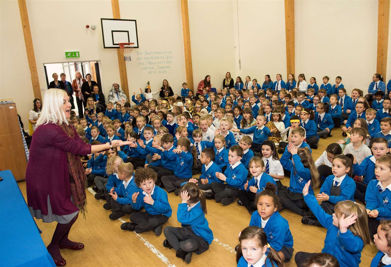 Vocal assemblies are helping to inspire and unite school